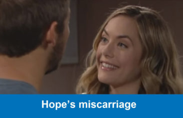 The Bold and the Beautiful spoilers : Hope's miscarriage