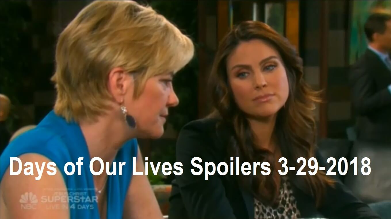 Days of Our Lives Spoilers 3-29-2018