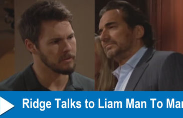 The Bold and the Beautiful Spoilers : Ridge Talks to Liam Man To Man
