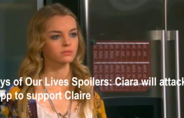 Days of Our Lives Spoilers: Ciara will attack Tripp to support Claire