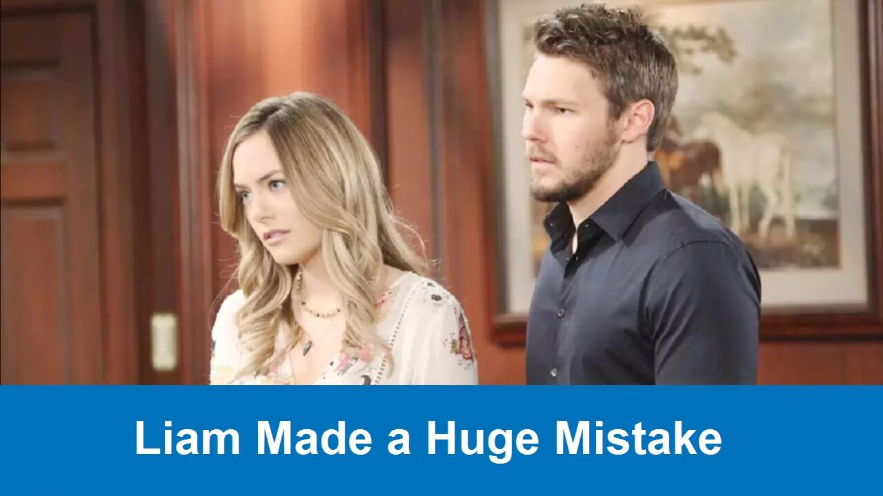 The Bold and the Beautiful Spoilers : Liam Made a Huge Mistake