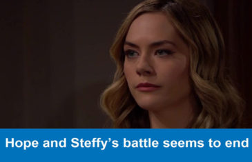 The Bold and Beautiful spoilers : Hope and Steffy's battle seems to end