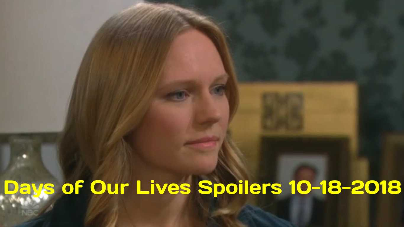Days of Our Lives Spoilers 10-18-2018
