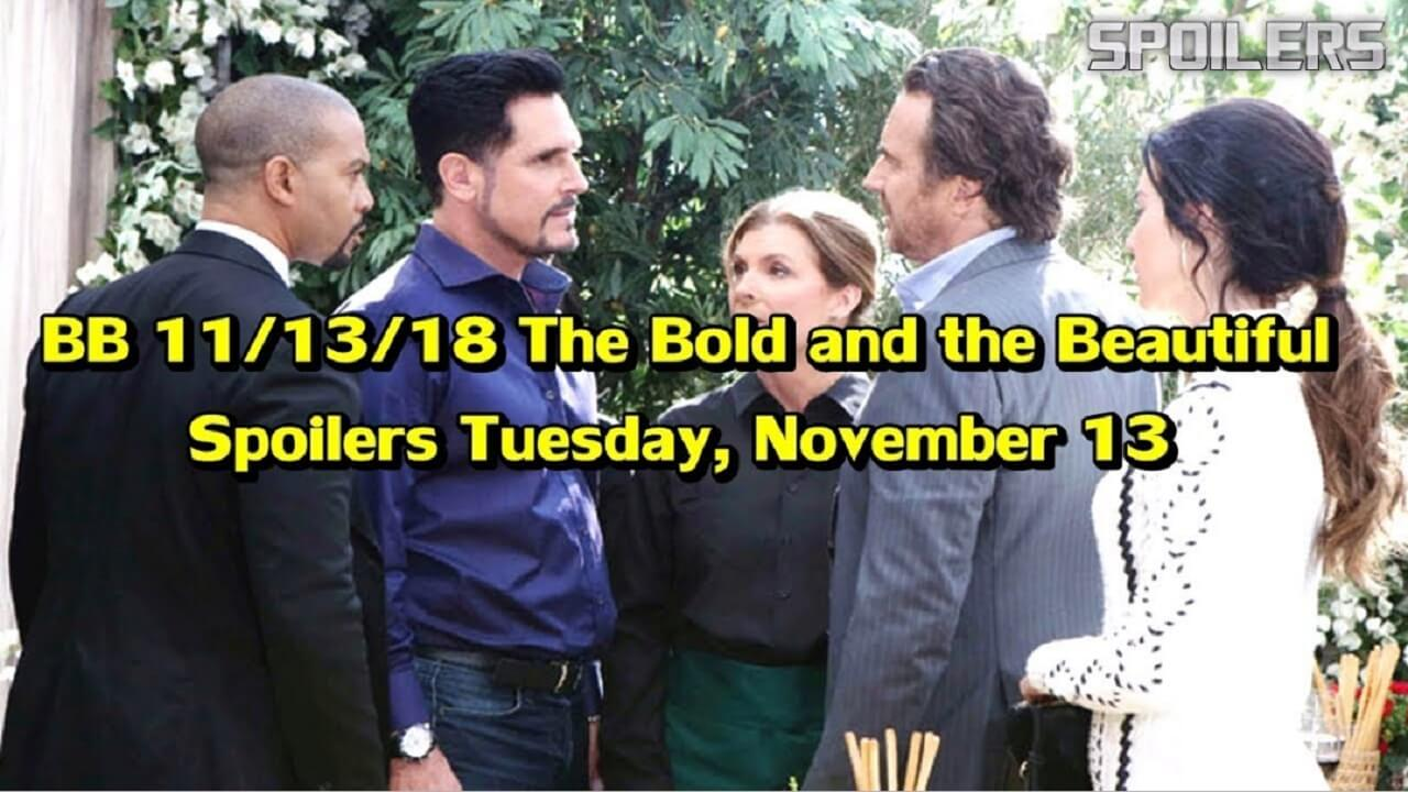 The Bold and the Beautiful Spoilers Tuesday November 13