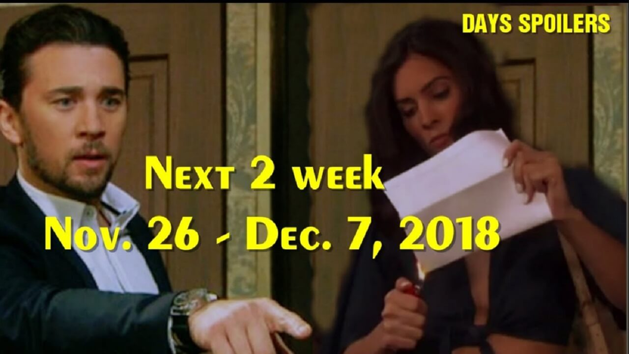 Days of Our Lives Spoilers Next 2 November 26 December 7