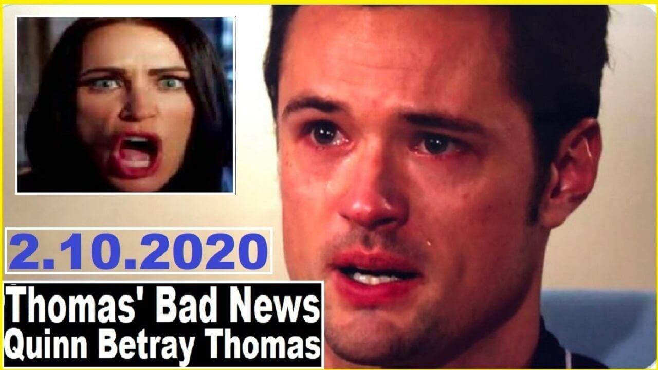 The Bold and the Beautiful Spoilers : Thomas' Bad News – Quinn Betray Thomas