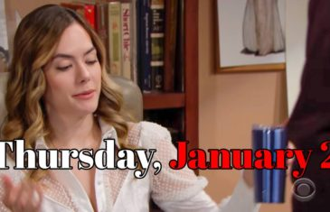The Bold and the Beautiful Spoilers Thursday, January 2 B&B Ubdate