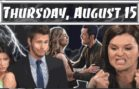 The Bold and the Beautiful Spoilers Thursday August 15 B&B Ubdate