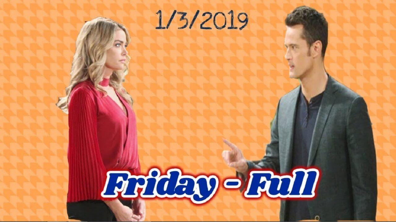 The Bold and the Beautiful Spoilers Friday, January 3 B&B Ubdate