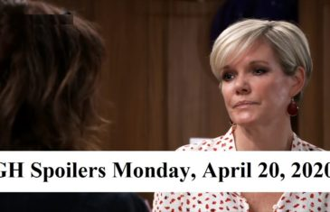 General Hospital Spoilers for Monday, April 20, 2020