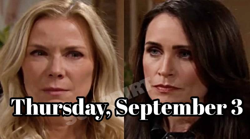 The Bold and The Beautiful Spoilers Thursday, September 3 B&B